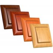 کلید و پریز ویسیج Vissage طرح چوب