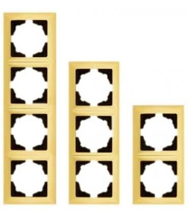 کلید و پریز ویسیج Vissage سری دولوکس - با کادر طلایی مات