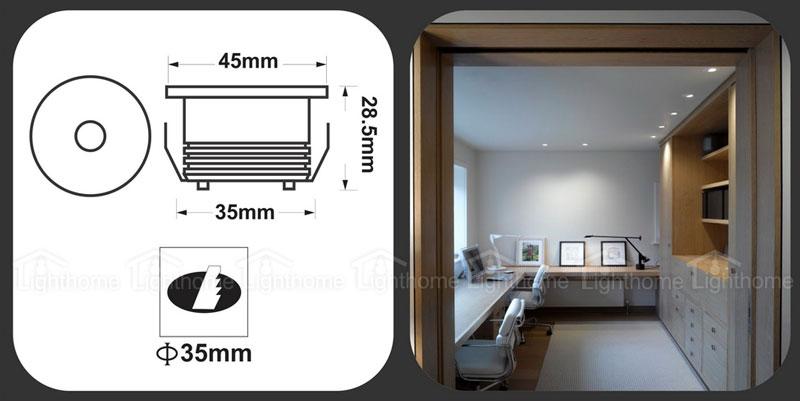 چراغ COB توکار دکوراتیو مدل FEC-COB-01