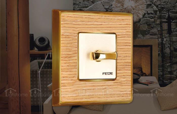 کلید و پریز فده سری وینتیج مدل چوب