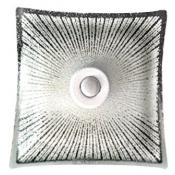 چراغ سقفی سنسور دار مدل خورشید شیشه ای مربعی