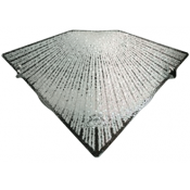 چراغ دیواری مدل خورشید شیشه ای مثلثی