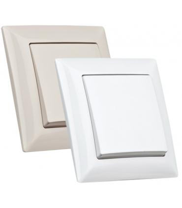 کلید و پریز ویسیج Vissage سفید و کرم ساده