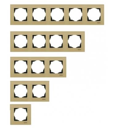 کلید و پریز اکونا با کادر شیشه ای بژ - سری نوبل