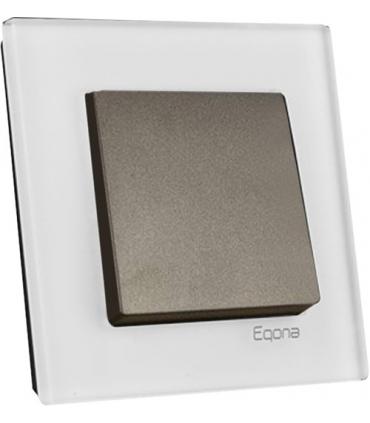 کلید و پریز اکونا با کادر شیشه ای سفید - سری نوبل