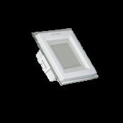 چراغ پنلی  مربع دور شیشه ای شیله 12 وات SMD