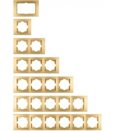 کلید و پریز مدرنا Moderna سری لوکس - با کادر طلایی