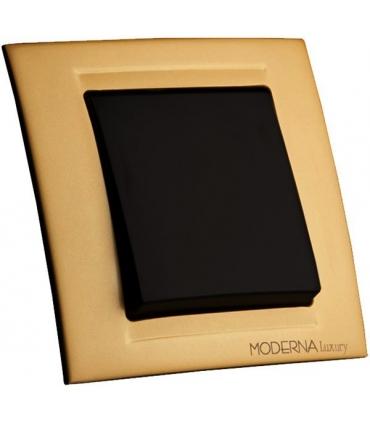 کلید و پریز مدرنا Moderna سری لوکس - با کادر طلایی مات