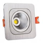 چراغ COB توکار سیلندری 7 وات مربع آلومینیوم نمانور