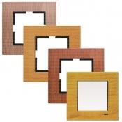 کلید و پریز ویکو سری Artline مدل Novella با کادر چوبی