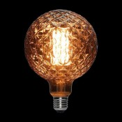 لامپ ادیسونی ال ای دی 8 وات مدل XLARGE GLOBE قهوه ای روشن