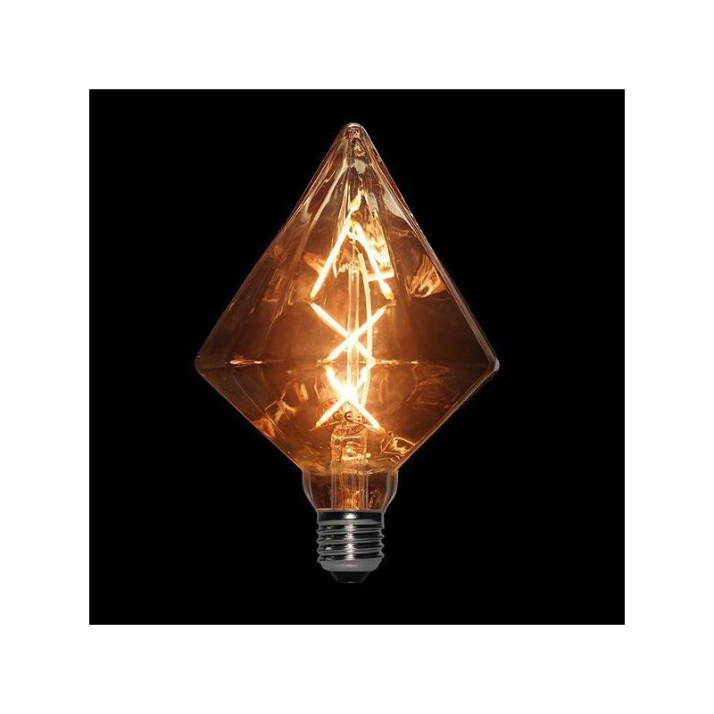 لامپ LED ادیسونی 6 وات مدل BLG110 DIAMOND حباب قهوه ای روشن