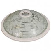 چراغ سقفی سنسوردار اسپیک مدل SP16 طرح کتان با حباب شیشه ای