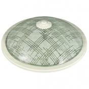 چراغ سقفی اسپیک مدل SP17 طرح کتان با حباب شیشه ای