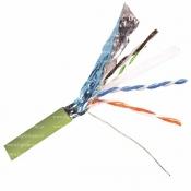 کابل شبکه Cat6A F-UTP هومر مدل HM-AFU4P-LP-C6BR