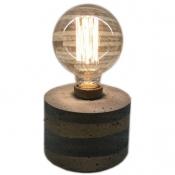 چراغ رومیزی بتنی دست ساز بدون لامپ مدل 2913