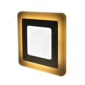 پنل SMD روکار مربع 18+18 وات زاک (وسط سفید دور آفتابی یا آبی)