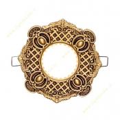 قاب هالوژن سقفی طلایی پتینه NB کد 412
