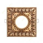 قاب هالوژن سقفی طلایی پتینه NB کد 512