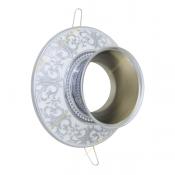 قاب هالوژن چتری دار آنتیکو مدل فیوره نقره ای با پتینه سفید