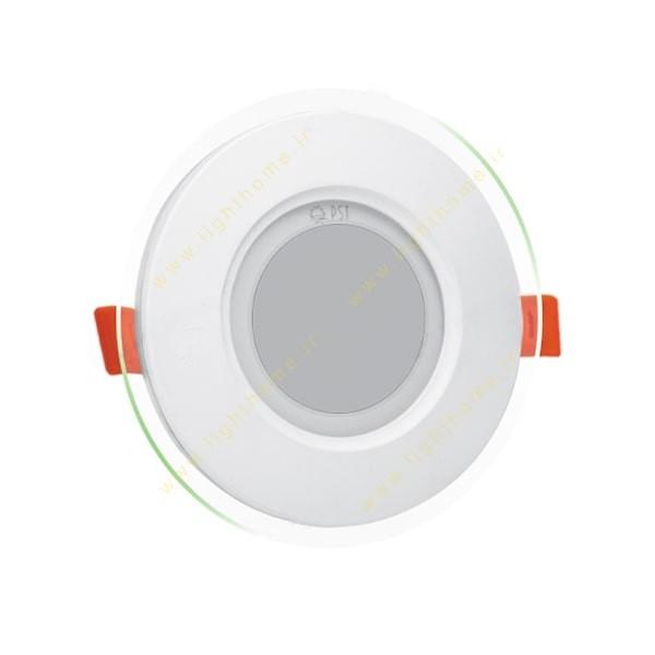چراغ پنلی SMD توکار 9 وات دایره ای پارس شعاع توس