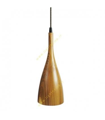 چراغ آویز انگاره چوبی لامپ دار مدل ASA1