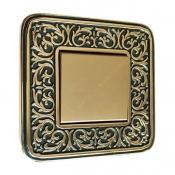کلید و پریز آنتیکو سری FIORE طلایی با کادر پتینه یشمی