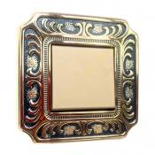 کلید و پریز آنتیکو سری VITA طلایی با کادر پتینه سرمه ای