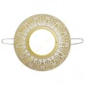 قاب هالوژن آنتیکو سری رزا طلایی با پتینه سفید