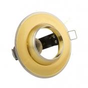 قاب هالوژن فریم چشمی E14 طلایی EDC