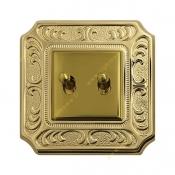 کلید دو پل اهرمی آنتیکو طلایی با قاب سری VITA