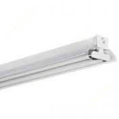 چراغ فلورسنت صنعتی روکار 18*2 وات با رفلکتور سفید مازی نور مدل M122218R