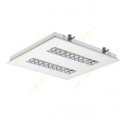 قیمت 36*2 وات چراغ فلورسنت سقفی توکار مازی نور مدل M524236DTCL با شبکه آلومینیومی