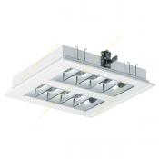 چراغ فلورسنت سقفی 18*2 وات توکار مازی نور مدل M524S218DTCL با شبکه آلومینیومی