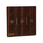 کلید کولر لمسی تیک با قاب چوبی آبنوس