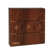 کلید کولر لمسی تیک با قاب چوبی گردویی