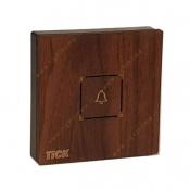 کلید زنگ لمسی تیک با قاب چوبی آبنوس