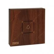 کلید زنگ لمسی تیک با قاب چوبی گردویی
