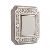 کلید و پریز آنتیکو سری VITA نقره ای با کادر پتینه نقره ای