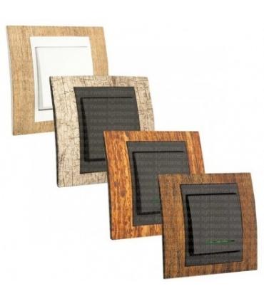 کلید و پریز دلند با قاب طرح چوبی