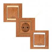 کلید و پریز رویان مدل سیلویا با طرح چوب