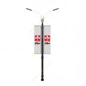 پایه چراغ پارکی دو طرفه پرچمدار 10 متری هما ST-541902