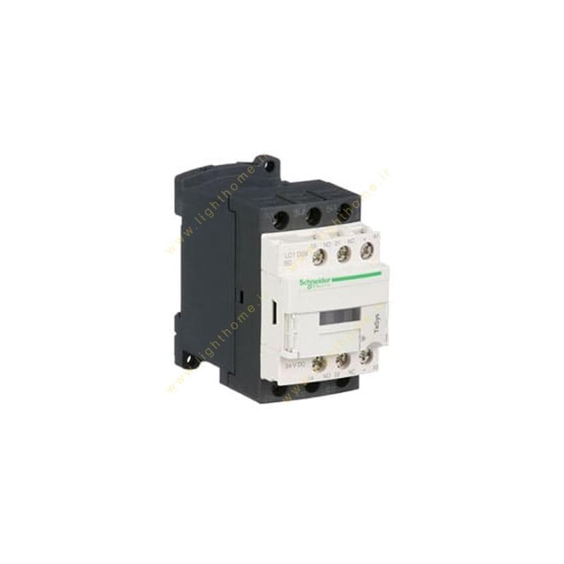کنتاکتور اشنایدر 3 فاز 9 آمپر 4 کیلووات (1 باز 1 بسته) بوبین 380 ولت AC کد LC1D09Q7