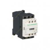 کنتاکتور اشنایدر 3 فاز 25 آمپر 11 کیلووات (1 باز 1 بسته) بوبین 24 ولت DC کد LC1D25BD