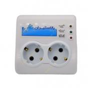 محافظ برق 2 خانه دیواری مناسب وسایل صوتی تصویری بالاستیران