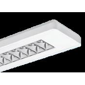 چراغ فلورسنتی روکار مازی نور مدل الگانت آنودایز شده