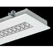 چراغ فلورسنتی توکار مازی نور مدل الگانت با شبکه آنودایز شده