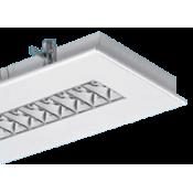 چراغ فلورسنتی توکار مازی نور مدل الگانت با شبکه دابل MIRO