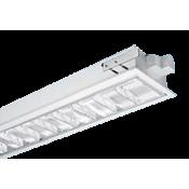 چراغ فلورسنتی توکار مازی نور مدل ژوپیتر با شبکه دابل اپتیک براق – مناسب سقف سازه نمایان