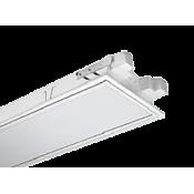 چراغ فلورسنتی توکار مازی نور مدل ژوپیتر با صفحه اکریلیک شیری ساتن – مناسب سقف سازه نمایان